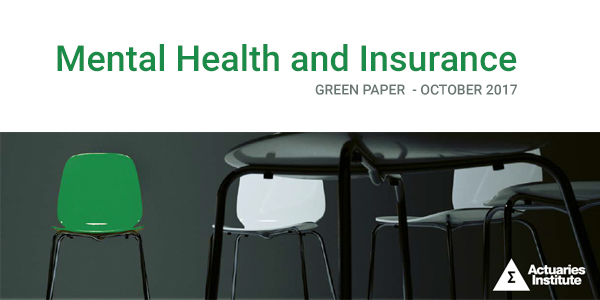 The Actuaries Institute has released its Green Paper 'Mental Health and Insurance', stimulating discussion about the interaction between insurance and people with mental health conditions.