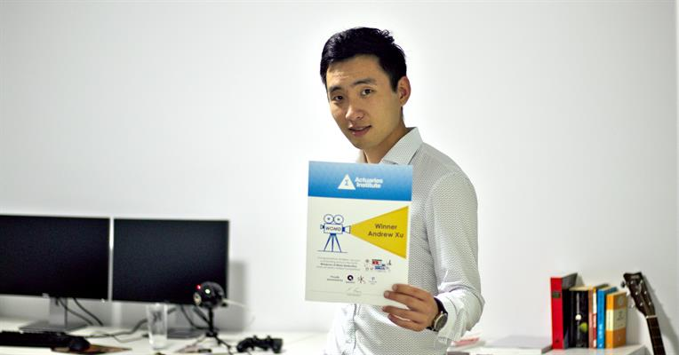Andrew Xu with Certificate