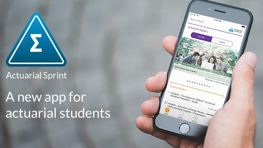 Actuarial Sprint, our app for actuarial students is available now. Find out more.